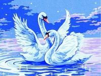 Royal Paris Starter Tapestry Kit – Pair of Swans