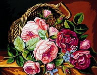 Royal Paris Tapestry/Needlepoint - Basket of Roses