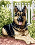 Royal Paris Tapestry/Needlepoint - Belle (German Shepherd Dog)