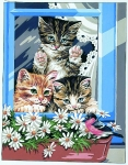 Royal Paris Tapestry/Needlepoint - Bird Watcher (Cats)