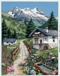 Royal Paris Tapestry/Needlepoint - Holiday in the Alps