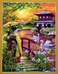 Royal Paris Tapestry/Needlepoint - Japanese Garden