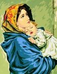Royal Paris Tapestry/Needlepoint - Madonna of Rest
