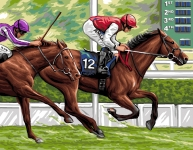 Royal Paris Tapestry/Needlepoint - The Horse Race
