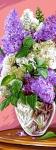 Royal Paris Tapestry/Needlepoint - Vase of Lilacs