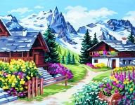 Royal Paris Tapestry/Needlepoint Canvas - Alpine Village (Vers les cimes)