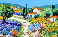 Royal Paris Tapestry/Needlepoint Canvas - Country Scene (Provence)