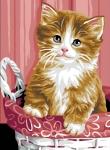 Royal Paris Tapestry/Needlepoint Canvas - Kitten in a Basket (Chaton dans Panier)