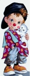 Royal Paris Tapestry/Needlepoint Canvas - Little Clown Pio