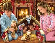 Royal Paris Tapestry/Needlepoint Canvas - Nativity Scene (La Creche de Noel)