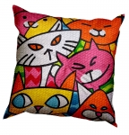 SEG de Paris Chunky Tapestry Cushion Kit - Cats II (Charandole)
