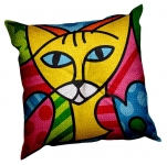 SEG de Paris Chunky Tapestry Cushion Kit - Colour Cats