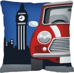 SEG de Paris Chunky Tapestry Cushion Kit - London/Mini Cooper