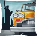 SEG de Paris Chunky Tapestry Cushion Kit - New York/Taxi