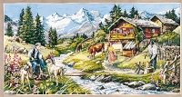 SEG de Paris Tapestry/Needlepoint – Alpine Chalet in Summer