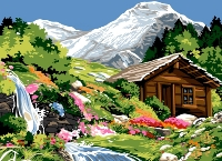 SEG de Paris Tapestry/Needlepoint – Alpine Scene