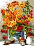 SEG de Paris Tapestry/Needlepoint – Autumn Flowers