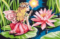 SEG de Paris Tapestry/Needlepoint – Fairy and the Water Lily