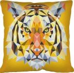 SEG de Paris Tapestry/Needlepoint – Geometric Tiger