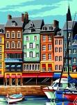 SEG de Paris Tapestry/Needlepoint – Honfleur Harbour Front