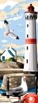 SEG de Paris Tapestry/Needlepoint – Lighthouse & Seagulls