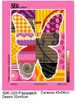 SEG de Paris Tapestry/Needlepoint – Patchwork Butterfly