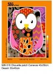 SEG de Paris Tapestry/Needlepoint – Patchwork Owl