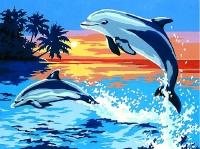 SEG de Paris Tapestry/Needlepoint – Playful Dolphins