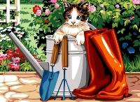 SEG de Paris Tapestry/Needlepoint – Puss & Boots
