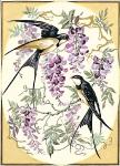 SEG de Paris Tapestry/Needlepoint – Swallows & Wisteria