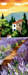 SEG de Paris Tapestry/Needlepoint Canvas – Allee with Lavenders (Allee aux Lavandes)