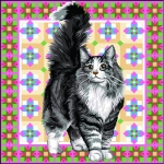 SEG de Paris Tapestry/Needlepoint Canvas – Angora Cat