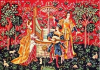 SEG de Paris Tapestry/Needlepoint Canvas – Concert at the fountain