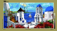 SEG de Paris Tapestry/Needlepoint Canvas – Cyclades Islands Greece