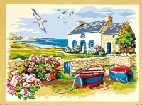 SEG de Paris Tapestry/Needlepoint Canvas – Fisherman's Cottage
