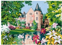 SEG de Paris Tapestry/Needlepoint Canvas – Floral Castle