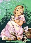 SEG de Paris Tapestry/Needlepoint – Girl with Cats