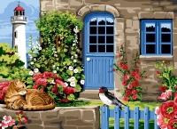 SEG de Paris Tapestry/Needlepoint Canvas – Haven of Peace