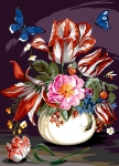 SEG de Paris Tapestry/Needlepoint Canvas – Living Bouquet (Bouquet Vivant)
