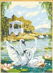 SEG de Paris Tapestry/Needlepoint Canvas – Playful Swans