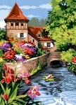 SEG de Paris Tapestry/Needlepoint Canvas – Small Water Corner (Petit Coin d'eau)