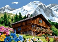 SEG de Paris Tapestry/Needlepoint Canvas – Summer Mountain (Montagne d'ete)