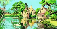 SEG de Paris Tapestry/Needlepoint Canvas – The Old Mill