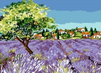 SEG de Paris Tapestry/Needlepoint Canvas – Village Olive Gove