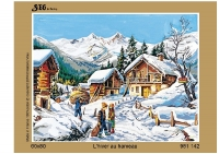 SEG de Paris Tapestry/Needlepoint Canvas – Winter in the Village