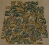 Tramme Needlepoint Canvas – All over Design for Chair Seat, shades of Jade & Yellow Greens.