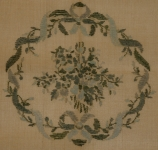 Tramme Needlepoint Canvas – Circular Floral Design for Cushion or Stool Seat.