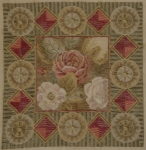 Tramme Needlepoint Canvas – Red & Green Geometric Design for Cushion.