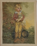 Tramme Tapestry/Needlepoint Kit – Boy with Dog, part worked in Petit Point