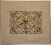 Tramme Tapestry/Needlepoint Kit – Chippendale Stool Top, part worked in Petit Point.